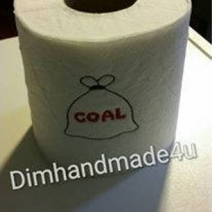 Coal Embroidered Toilet paper. Great gift! Comes gift wrapped!