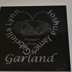 Engraved Ultrasound Photo on Granite