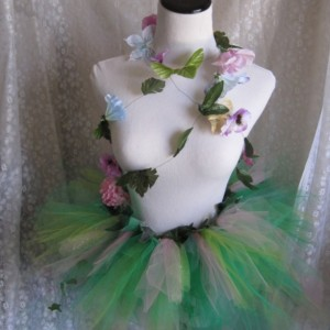 Adult Splash of Color Flower and Leaf Costume