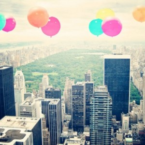 Central Park - 8x10 photograph - Balloons over the Park - fine art print - vintage photography - Central Park Photo - New York