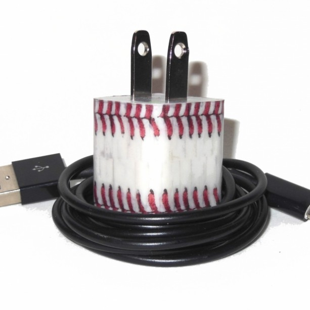 Baseball Cell Phone Charger