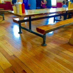 """Black Pipe Picnic Table Legs, Table Base """"DIY"""" Parts Kit, Pipe Sizes Available - 1-1/2"""" Pipe,"""
