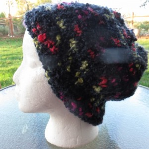 Slouch Beanie Hat Hand Knitted with Mohair - MANZANITA by Kat