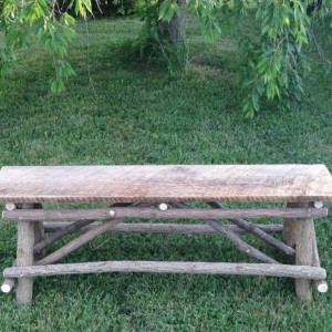 Plank Top Twig Bench, includes shipping