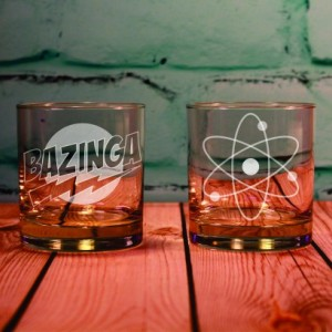 2 Big Bang Theory Inspired Rocks Glasses