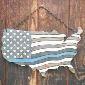 U.S.A Thin Blue Line American Flag