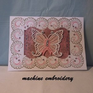 Machine embroidery card