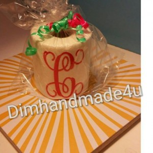 Monogram embroidered Toilet paper. Great gift! Comes gift wrapped!