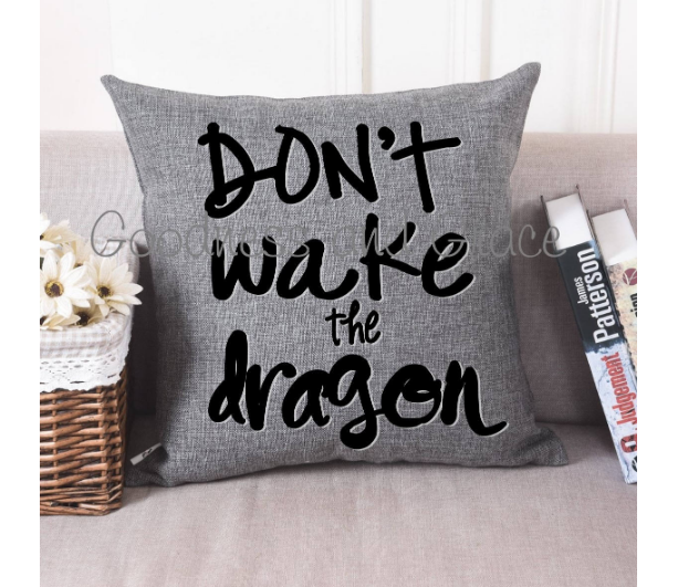 Don't Wake the Dragon Pillow for Little Loves