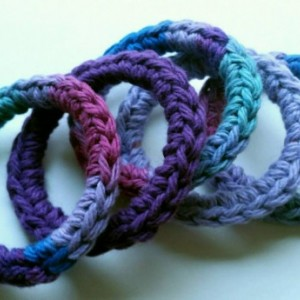 Cat Ferret Recycled Rings Toy Toys Handmade Michigan Purple Blue Pink