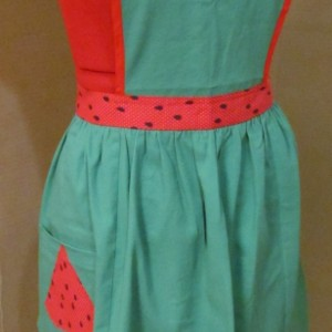 Watermelon Apron - medium adult size