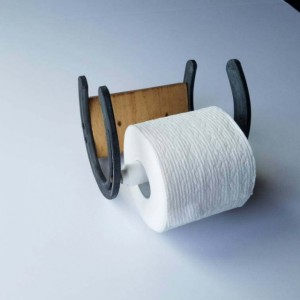Rustic Horseshoe Toilet Paper Holder