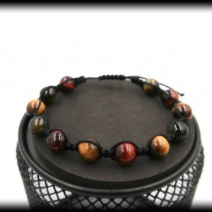 Tigers Eye Macrame Bracelet for Stress Relief and Mental Strength