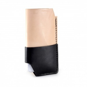 iPhone 6 Leather Wallet in Black & Tan