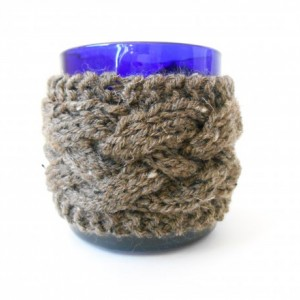 Knit Cabled Mug Cozy