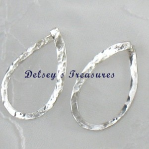 High QualityTrendy Hammered Sterling Silver Earrings