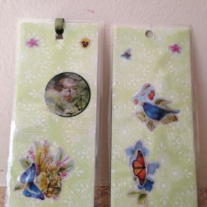 Birds and Butterfly Laminated Book Mark