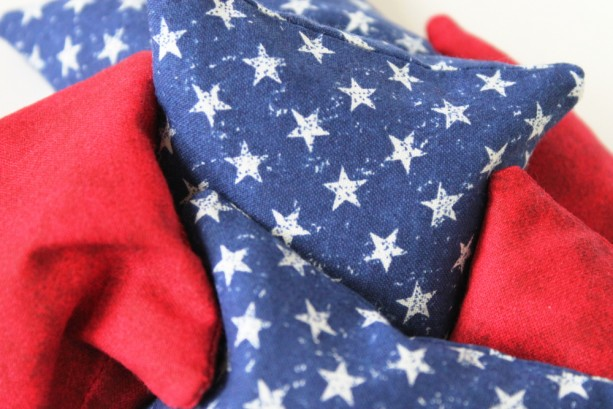 Red White Amp Blue Bean Bags Set Of 6 Americana
