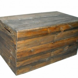 Primitive Wood Box, Storage Chest, Trunk, Wooden box