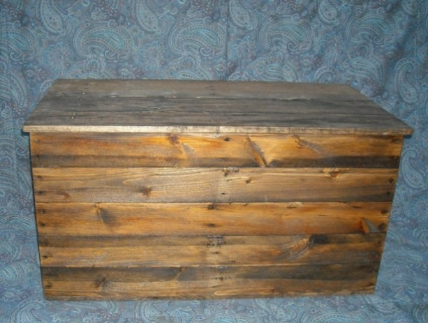 Primitive Wood Box Storage Chest Trunk Wooden Box Aftcra
