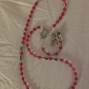 Breast Cancer Awareness Rosary