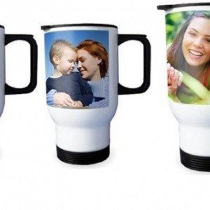 Travel Mug Beautiful Personalized photo14oz Stainless Steel white, gift idea, company logos, durable finish
