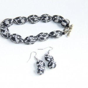 Polymer Clay Bracelet and Earring