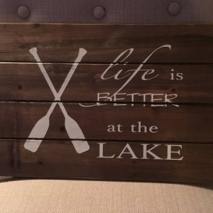 Rustic Lake and Beach Signs