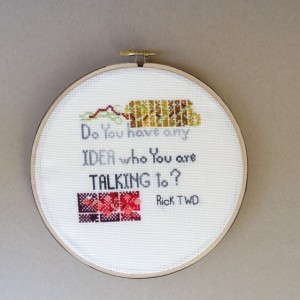 The Walking Dead Quote, Cross Stitch Quote, TWD Fan Gift, Zombie Fan Gift, Rick Grimes Quote, Ready to Ship, The Walking Dead , Embroidery