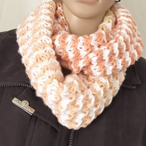 Woman's Infinity Scarf Hand Knitted Made in America