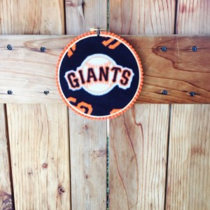 San Francisco Giants Hoop Art, Embroidery Hoop, San Fran Giants, Home Decor