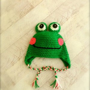 Happy Frog Crocheted Hat for Infants through Adults
