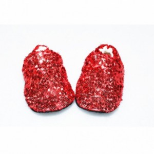 Red Sequin Wizard of Oz Baby Booties