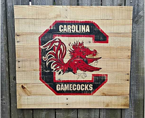 Large Rustic Handmade University of South Carolina Reclaimed Wooden Pallet Sign