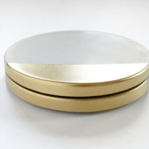 Concrete Coasters with Gold