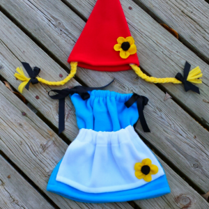 Girl dwarf or gnome costume for baby for Halloween