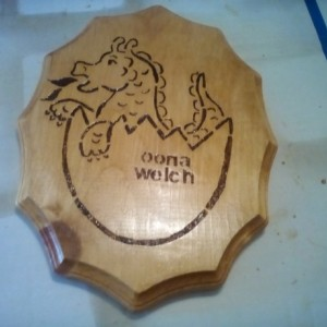 NEW PERSONALIZED WOOD WALL PLAQUE DECORATIVE DRAGON DESIGN HANGING ART HOME DECOR