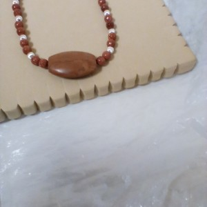 Coco brown Sterling silver / Gemstone  Necklace