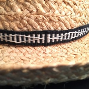 Handwoven Hat Band, 100% Cotton Black and White Item #34-102