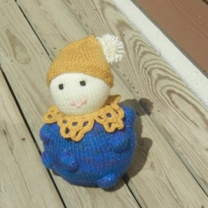 Waldorf Toy, Knitted Doll, Stuffed Doll, Nursery Decor, Baby Shower Gift, Nursery Decor, Ready to Ship
