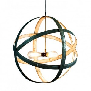 ATOM Collection - Premier - Wine Barrel Ring Chandelier / handmade from retired California wine barrel rings - 100% Recycled!