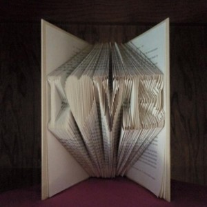LOVE with Heart (Book Folding)