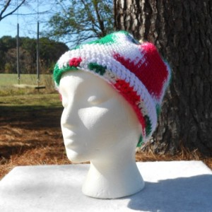 "A Christmas Hat with a jingle bell on top,""Jingle Hat"", A red, green and white hat with a jingle bell on top,"" Jingle Hat"""