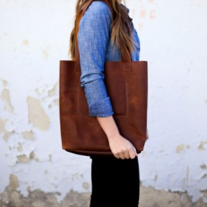 Leather Tote Bag, Diaper Bag, Leather Purse, Leather Bag (Large)