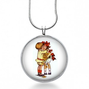 Christmas Kissing Necklace - Winter Jewelry - Holiday Pendant - Gift