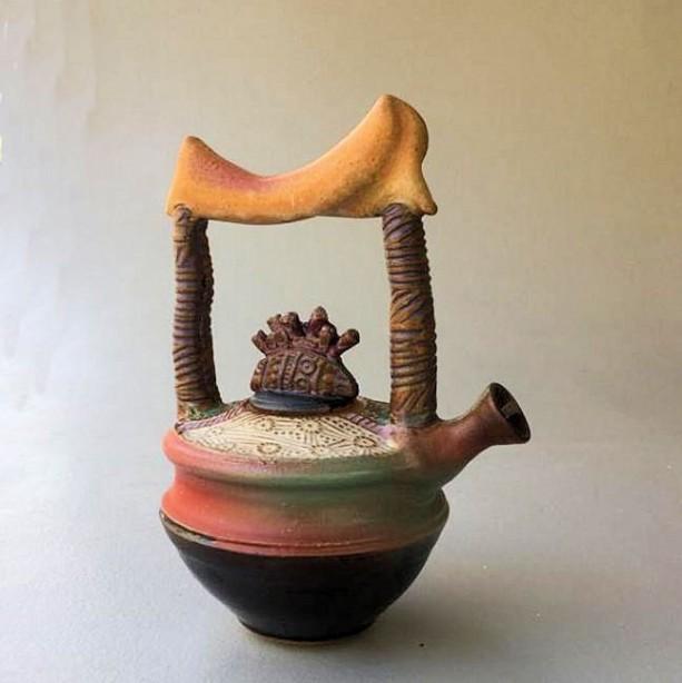 Tea Pot Potter with abstract design Functional