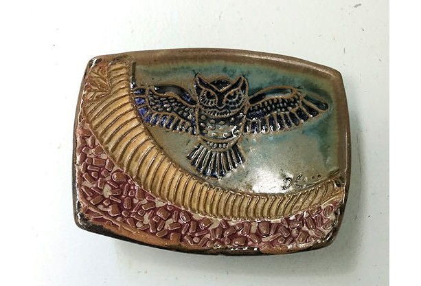 Owl Spoon Rest, Soap Dish Hand Made Stoneware Pottery