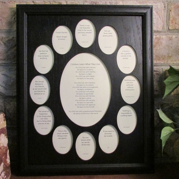 School Years Frame Collage K 12 Graduation Oval Picture