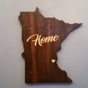 Rustic Minnesota Home State Decor