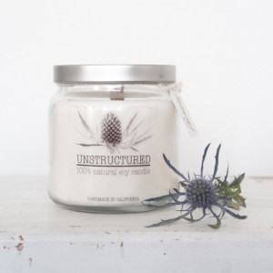 16oz Natural soy candle with Metal Lid
